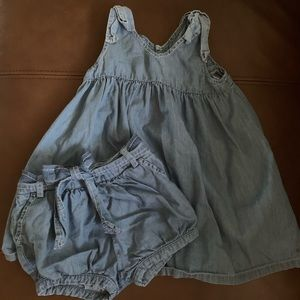 Chloe chambray dress and shorts